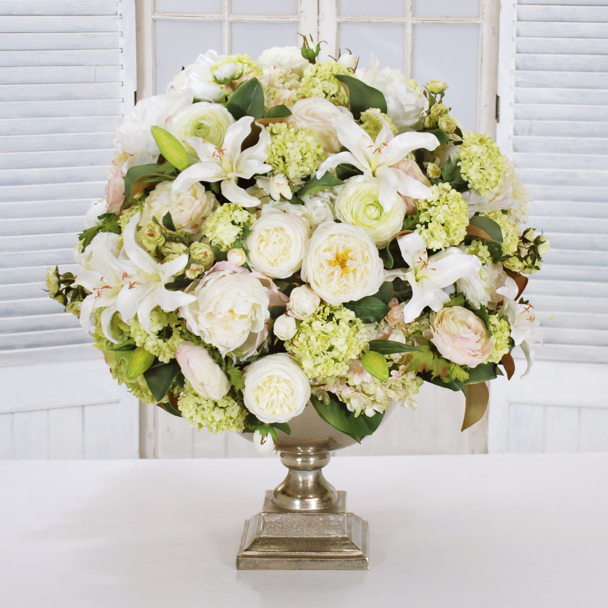 MINI ICON ROSE, PEONY, HYDRANGEA MIX (WHD107-CH) - Winward Home faux floral arrangements
