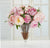 PINK PEONY IN ILLUSION VASE (WHD110-OH) - Winward Home faux floral arrangements