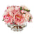 PEONY IN ROUND FOOTED GLASS VASE (WHD116-PK)