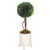 BOXWOOD BALL TOPIARY IN CANISTER VASE (WHD117-GR)