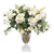 MIX ROSE AND TULIP IN SQUARE CUT VASE (WHD122-WH)