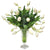 WHITE TULIP IN LEAF CUT VASE (WHD123-WH)