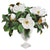 MAGNOLIA IN STRIPE CUT VASE (WHD125-WH)