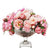 MIX PEONY IN STRIPE CUT BOWL (WHD130-PK)