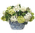HYDRANGEA IN OVAL PLANTER (WHD141-WHGR)