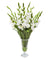 WHITE GLADIOLUS IN CUT VASE (WHD167-WH)