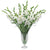 WHITE GLADIOLUS IN CUT VASE 48""