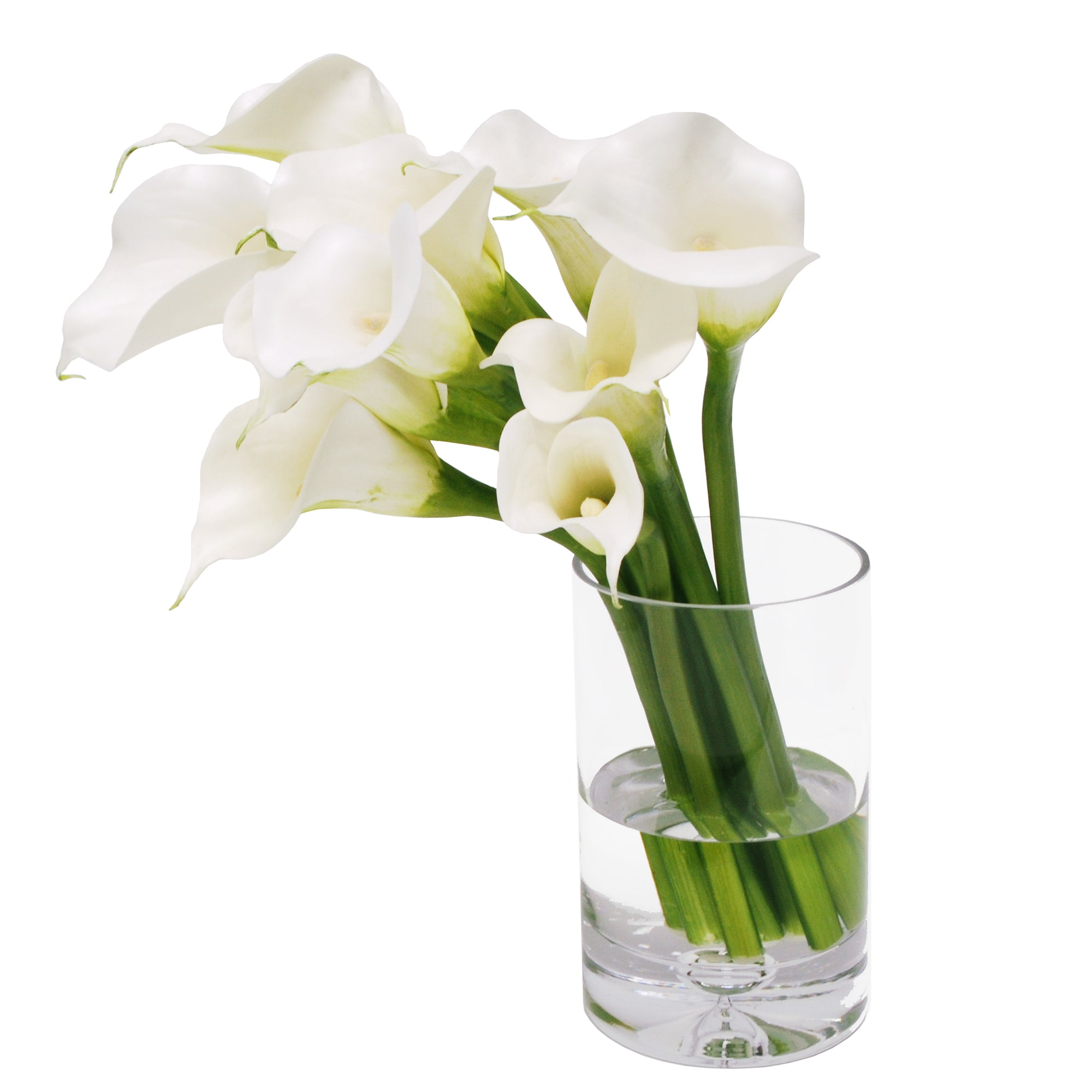 CALLA LILY IN CYLINDER VASE 18""