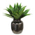 High quality faux aloe plant in dark grey ceramic pot