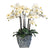 ORCHIDS IN RECT CACHE POT (WHD273-BLWH)