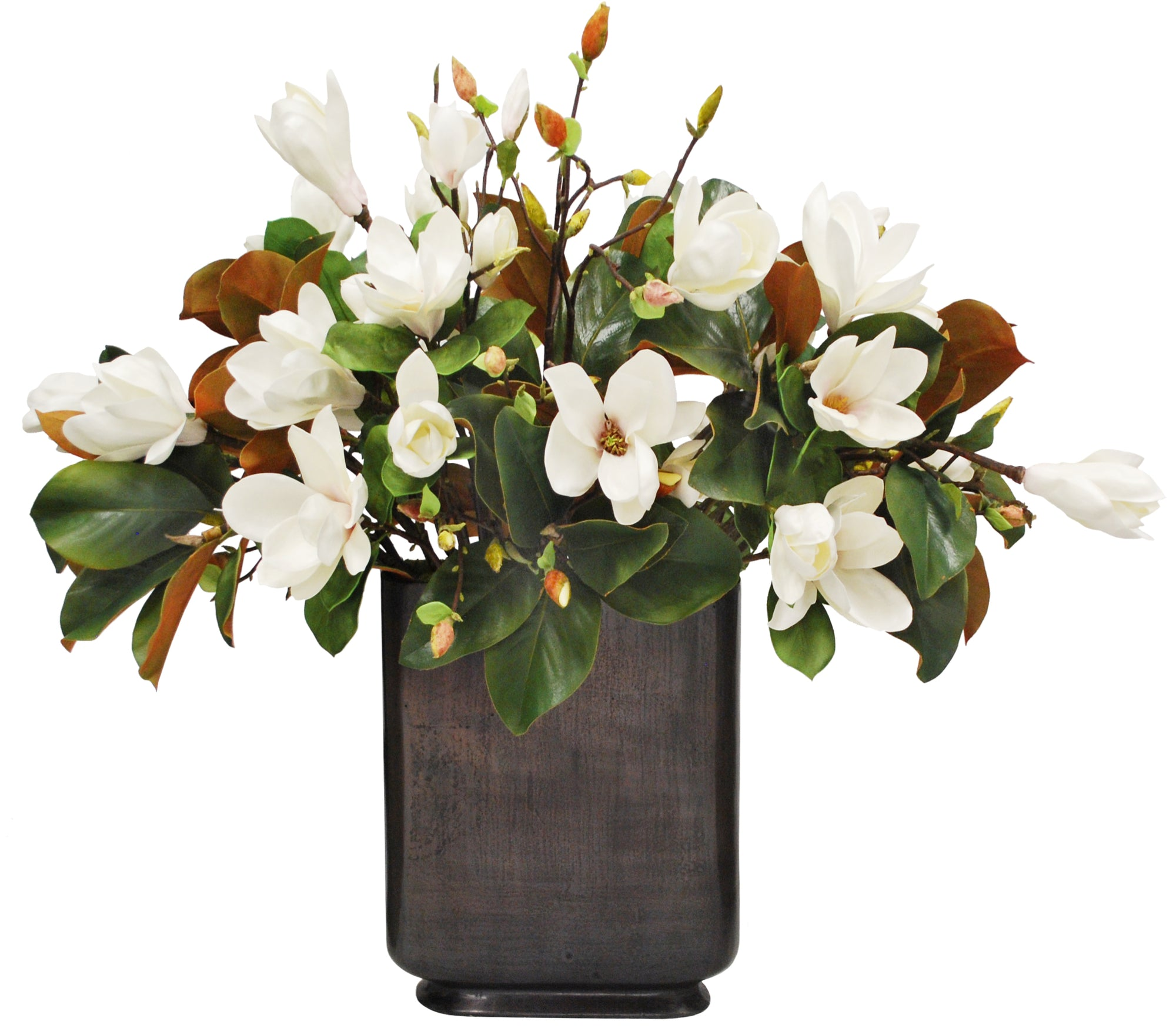 MAGNOLIA IN FOOTED PROFILE VASE 37""