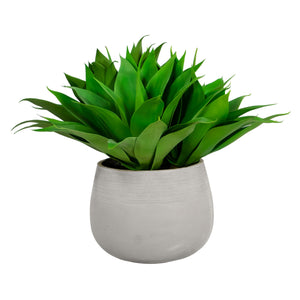 ALOE IN STONECAST PLANTER 25''