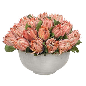 PINK PROTEA IN BOWL 18''