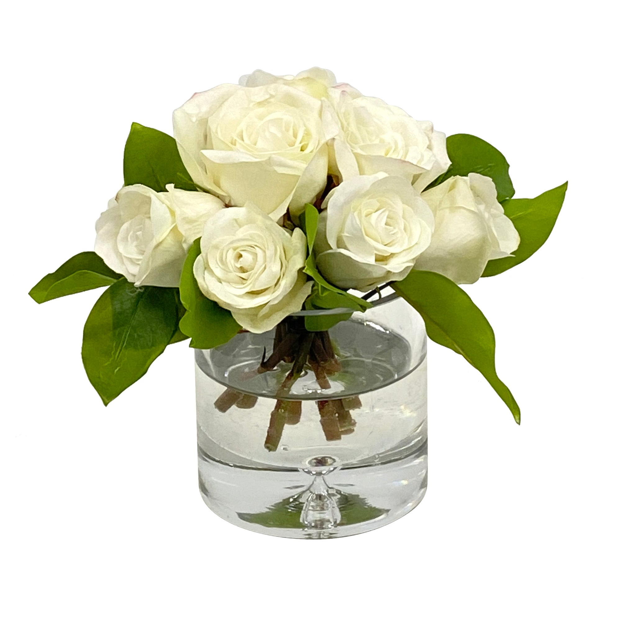 ROSE BOUQUET IN VASE 8""