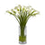CALLA LILY IN CYLINDER VASE 22""