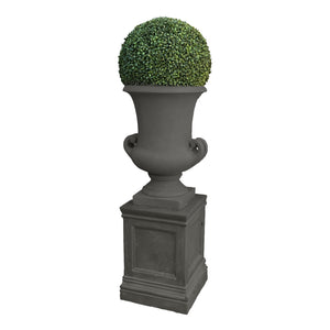 BOXWOOD BALL IN HANDLE URN 5'