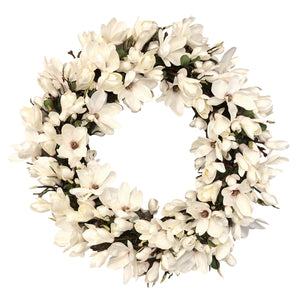 DELUXE TREE MAGNOLIA WREATH 36""