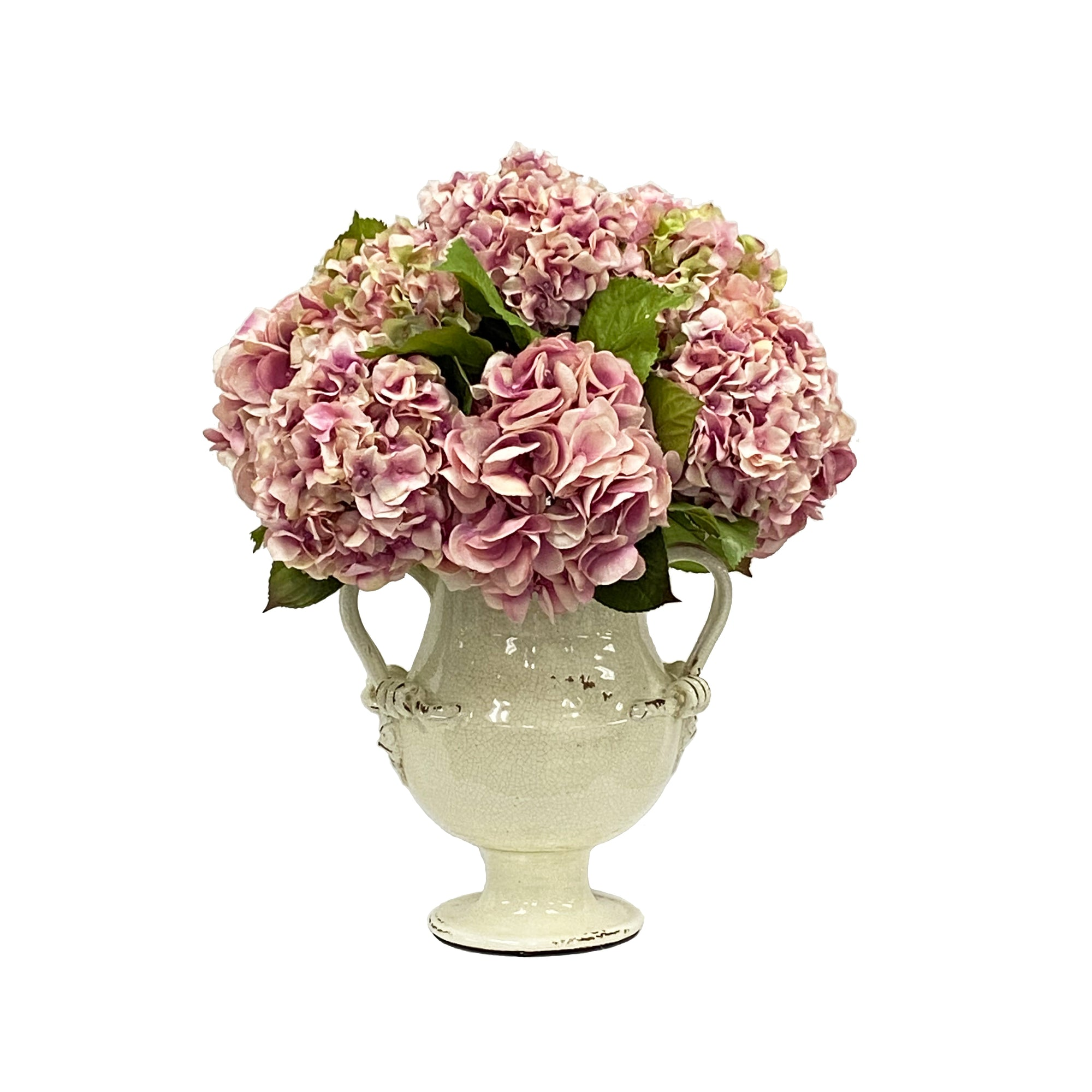 HYDRANGEA IN RUTHERFORD JAR 22""