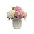 HYDRANGEA IN BALL STRIPE VASE 17.5""