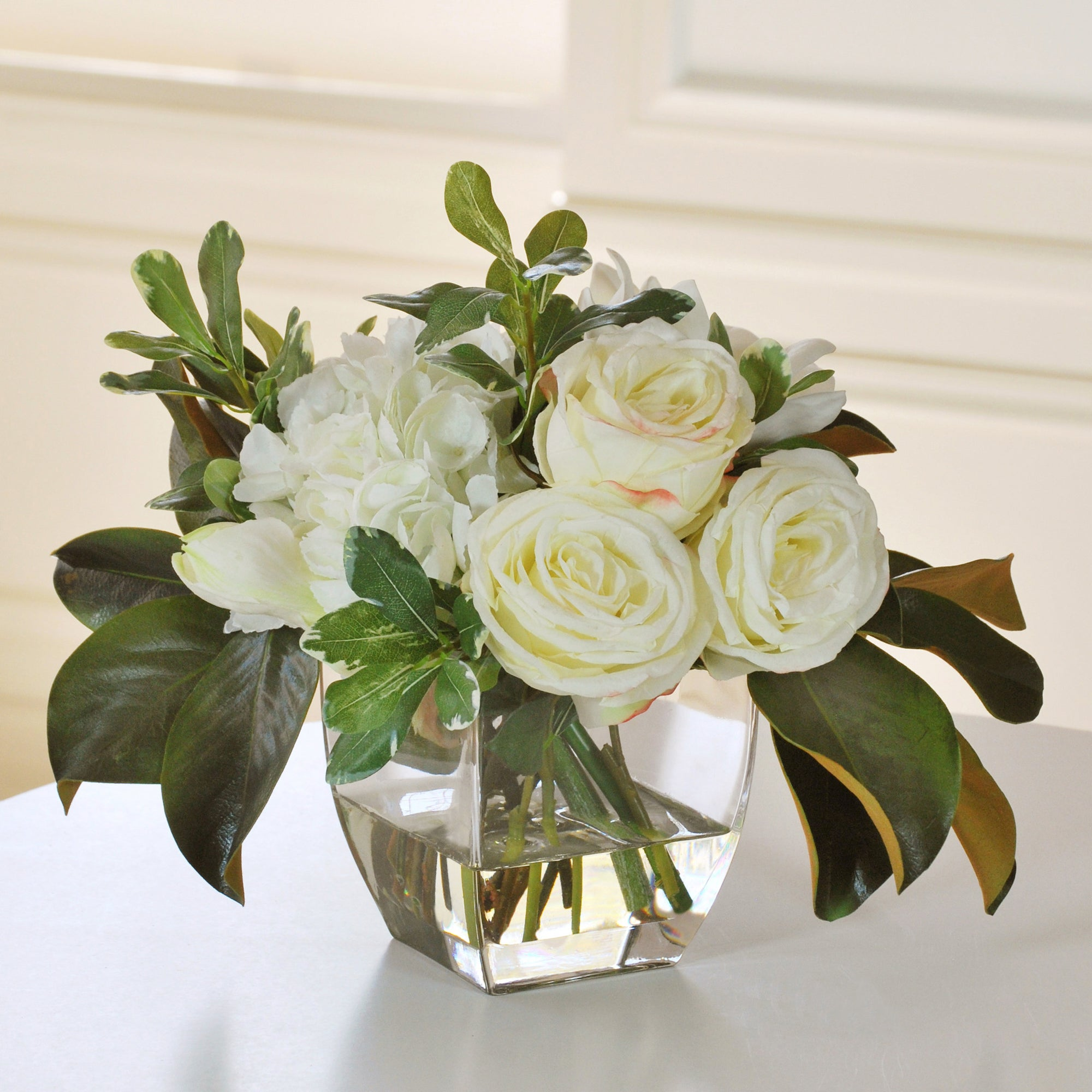SIGNATURE ROSE AND HYDRANGEA (WHDP147-WHGR) - Winward Home faux floral arrangements