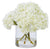 HYDRANGEAS IN GLASS 12'' (WHI007-WH) - Winward Home silk flower arrangements