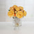 ROSE IN PINEAPPLE GLASS (WHI011-GO) - Winward Home silk flower arrangements