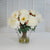 PEONIES IN FLAW GLASS 17'' (WHI013-WH) - Winward Home faux floral arrangements