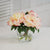 PEONIES IN GLASS 10'' (WHI015-PC) - Winward Home faux floral arrangements