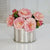 CAMELLIA IN SILVER TIN (WHI020-PK) - Winward Home faux floral arrangements