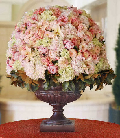 SNOW CONE IN PALLADIN URN (WHICON01-PKGR) - Winward Home faux floral arrangements