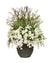 WHITE LILY ROSE ICON IN BROWN PLANTER (WHICON17-WHGR)