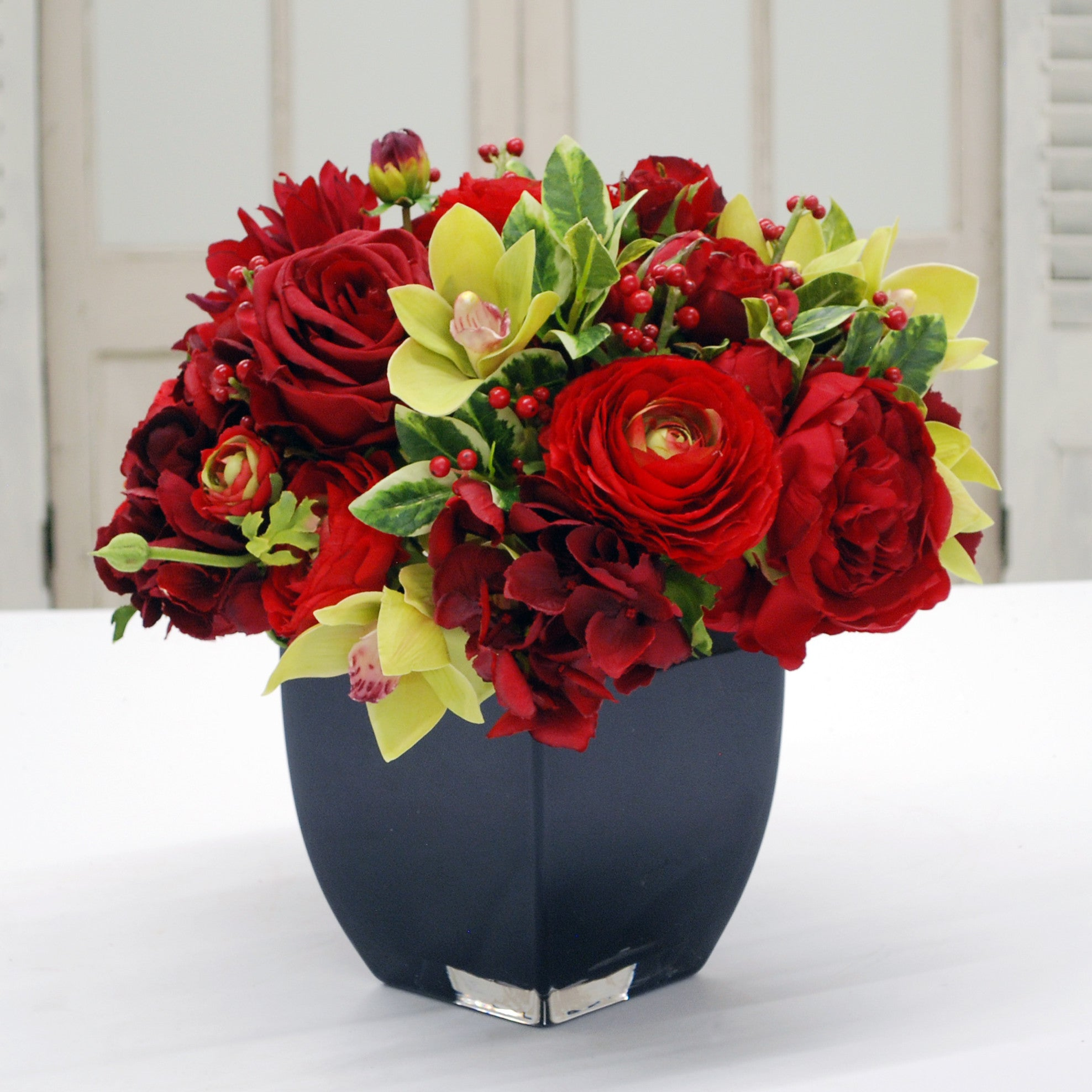 Holiday Rose And Hydrangea Winward Home Finest Permanent Botanicals