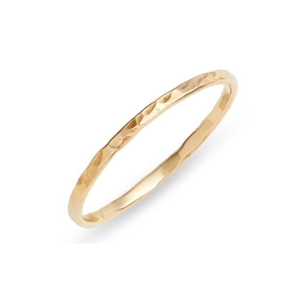 Skinny Hammered Gold Ring