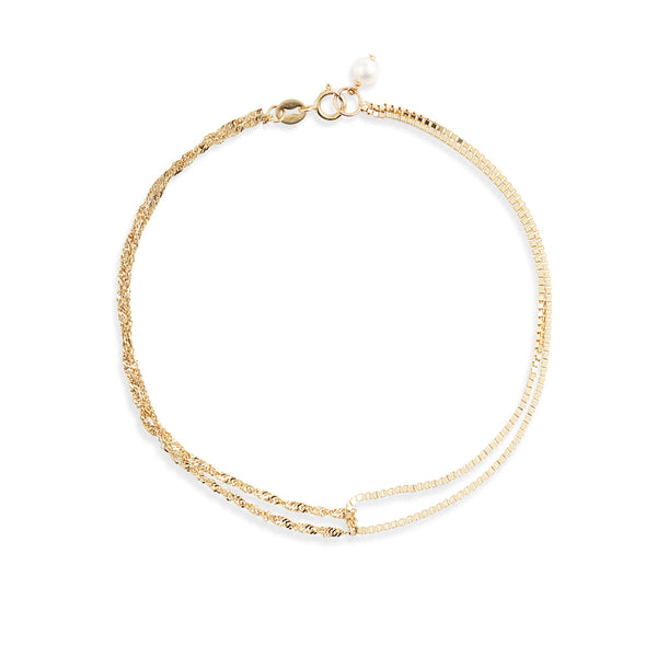 Double Box Shimmer Chain Bracelet