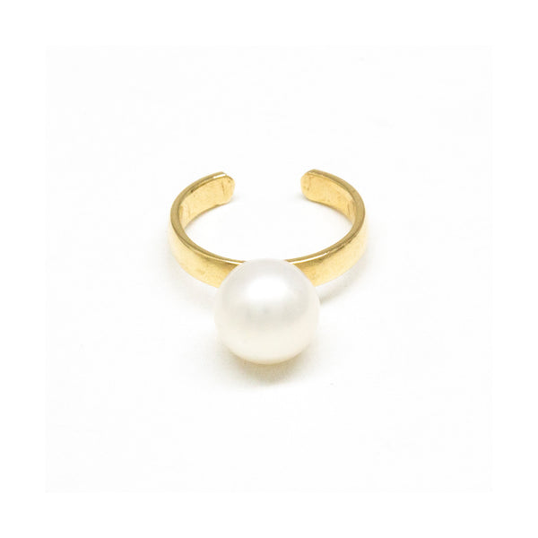 Single Pearl Ear Cuff 2mm