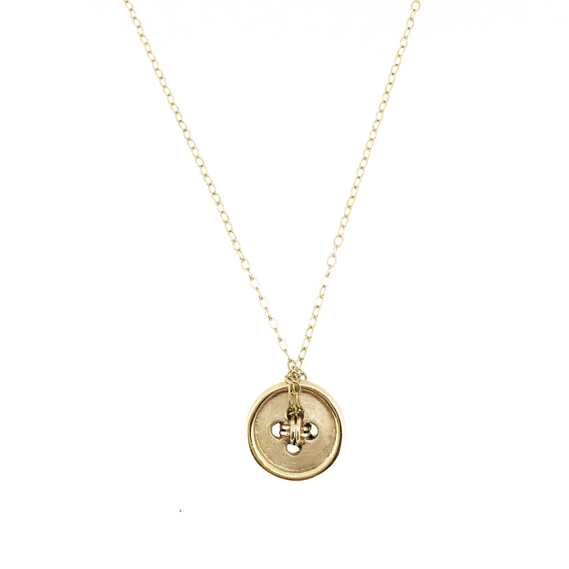 rose gb necklaces gold diamond curio lola pendant os button rgv necklace shop