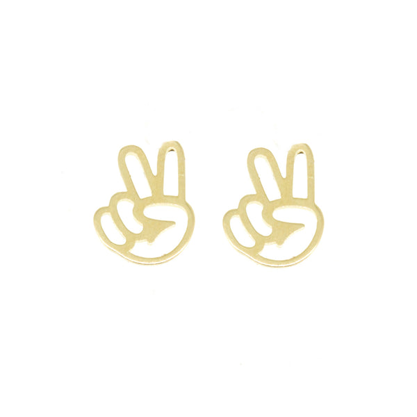 Charm Earrings - Peace Out