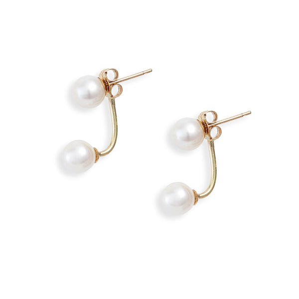 Petite Pearl Jacket Earrings