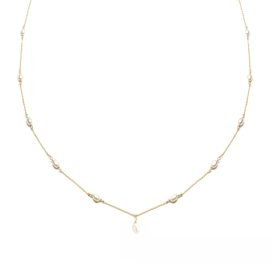 Keshi Pearl Choker Necklace