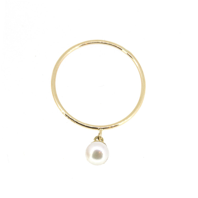 Baby Pearl Charm Ring
