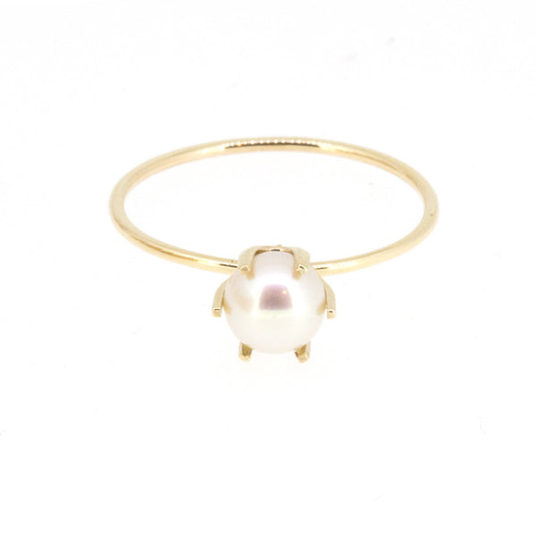 Pearl Solitaire Ring 5mm
