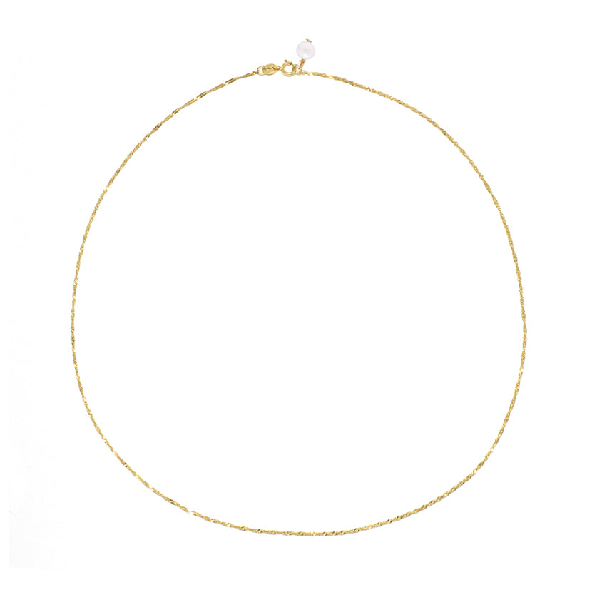 14K Gold Shimmer Chain Necklace