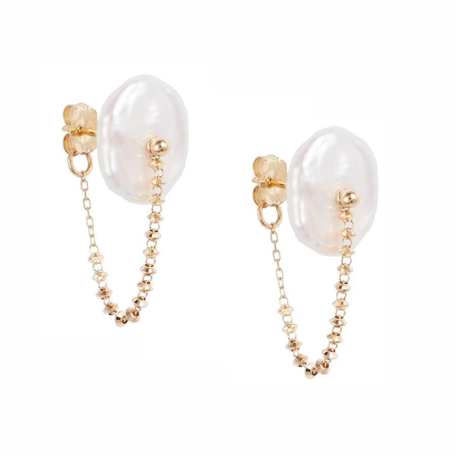 Petal Pearl Shimmer Wrap Around Earrings