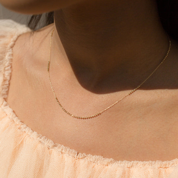 18K Short Shimmer Adjustable Necklace