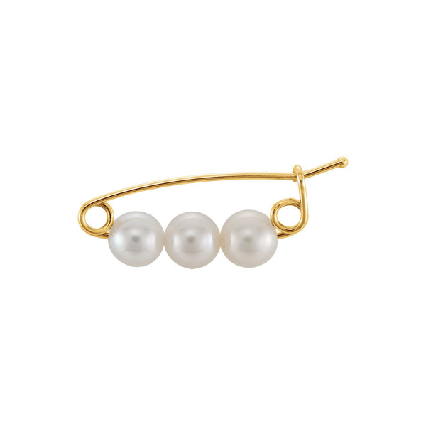 Three Pearl Brooch