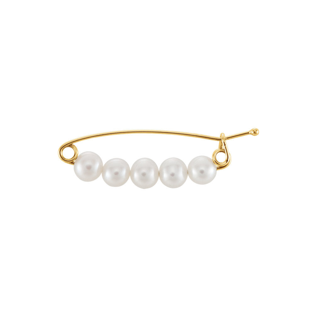 Five Pearl Brooch
