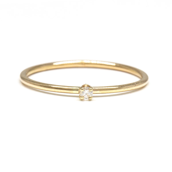 Skinny Baby Diamond Ring