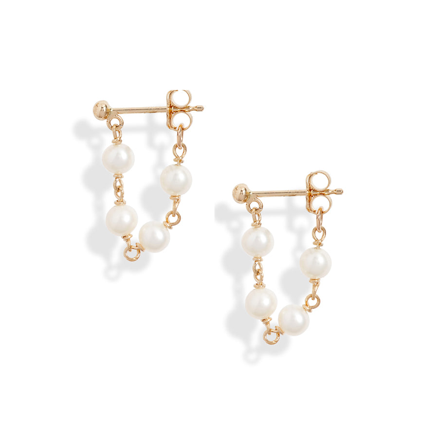 Baby Pearl Wrap Around Earrings