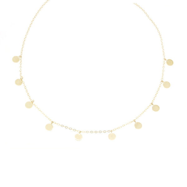 14K Confetti Necklace