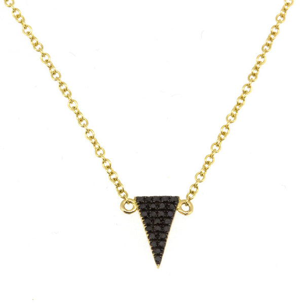 Black Diamond Baby Triangle Necklace